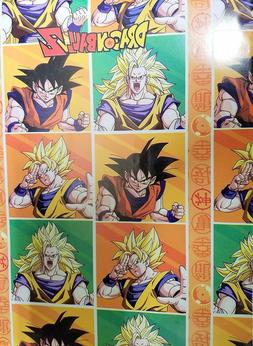 Dragon Ball Z Wrapping Paper Gift Book Cover Party Wrap 2 Sh