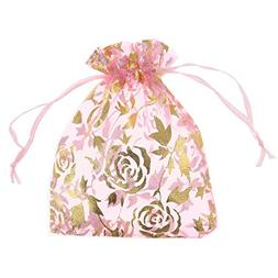 SumDirect Drawstring Organza Bags, Jewelry Favor Pouches wit