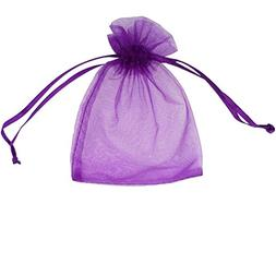 ATCG 100pcs 8x12 Inches Large Drawstring Organza Bags Decora
