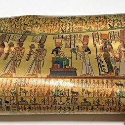 Egypt Wrapping Paper - Gift Wrap - Gold Foil Hieroglyphics P