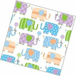 """Elephant Parade Baby Shower Rolled Gift Wrap Paper - 24"""" x 1"""