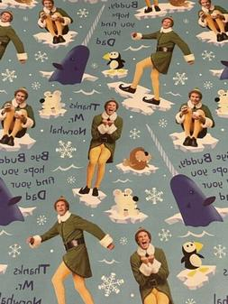 ELF Movie Buddy Gift Wrapping Paper 2 Yard FOLDED Decoupage