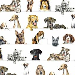 Entertaining With Caspari Gift Wrapping Paper, Dogs, 2-sheet