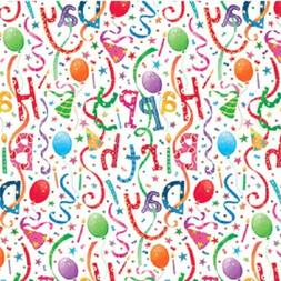 Entertaining With Caspari Gift Wrapping Paper, Happy Birthda