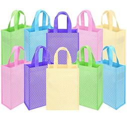 Ava & Kings Fabric Tote Party Favor Goodie Gift Bags for Can