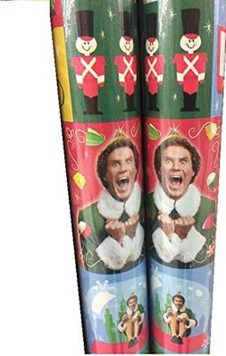Will Ferrell ~ ELF ~ Christmas Gift Wrap ~ 40 Sq Ft