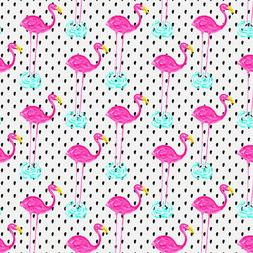 Flamingos Dots Water Premium Roll Gift Wrap Wrapping Paper