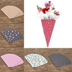 Flower Cones Wrapping Paper Wedding Favor Gifts Wrap Sweet P