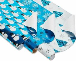 American Greetings Foil Christmas Bulk Gift Wrapping Paper B