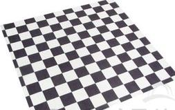 Food Grade Tissue Paper, Black & White Check