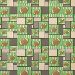 Football Kraft Present Gift Wrap Wrapping Paper