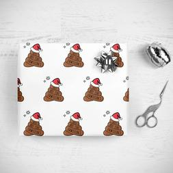 Funny Rude Gift Wrap Wrapping Paper Sheets Poop Cool Christm