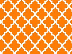 """Geo Graphic Tiles Orange Gift Wrapping Roll 24"""" X 16' - All"""