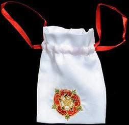 Gift Bag in a Medieval Tudor Rose Design. Beautifully embroi