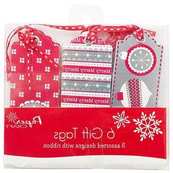 JAM Paper® Gift Tags - Red, White, & Silver Christmas Gift