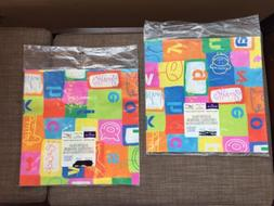 gift wrap abc animal paper lot of