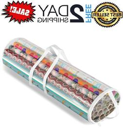 Gift Wrap Organizer Clear Storage Wrapping Paper Holder Chri