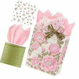 Gift WRAP Set: Gift Bags with Tissue Paper/Ribbon Bundle, Se