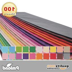 """20"""" X 26"""" Gift Wrap Tissue Paper 20 Colors - 100 Sheets by P"""