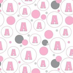 Gift Wrap Wrapping Paper Pattern Letter Initial Baby Girl Bl
