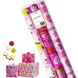 Gift Wrapping Paper - Premium Gift Wrap, 3 Rolls - 2.5 ft x