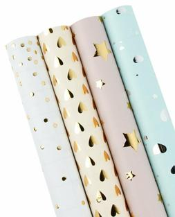 Wrapaholic Gift Wrapping Paper Roll - Polka Dots/Stars/Heart
