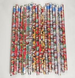 Gift Wrapping Paper Rolls Disney Pixar Cars Spiderman Rudolp