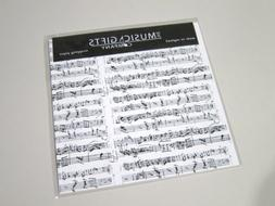 HIGH QUALITY GIFT WRAPPING PAPER w/ CARDS ~ MOZART MUSIC NOT