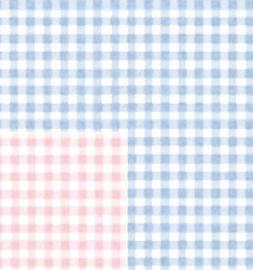 """Baby Gingham Reversible Gift Wrapping Roll 24"""" X 16' - All O"""