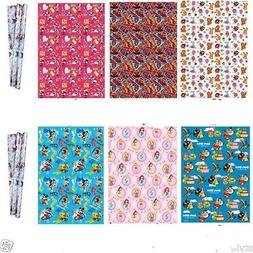 Girls Boys Birthday Wrapping Paper Gift Wrap Disney Spiderma