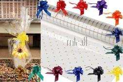Gold Doted Clear Sea Through Cellophane Wrapping Gift Paper