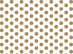 Gold and White Polka Dots Tissue Paper 20 Inch X 30 Inch - 2
