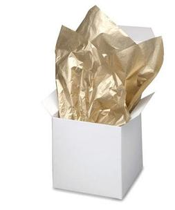 Gold / Gold Metallic Tissue Paper 20 Inches  X 30 Inches - 1