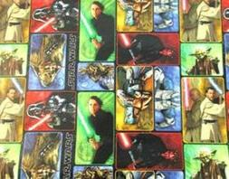 Hallmark Disney LOT OF 2 ROLLS Star Wars Gift Wrapping paper