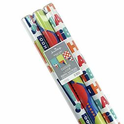 Hallmark Reversible Birthday Wrapping Paper, Balloons (Pack