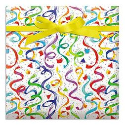 Happy Birthday Confetti Jumbo Rolled Gift Wrap - 67 sq. ft.