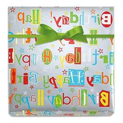 Happy Birthday Wishes Jumbo Rolled Gift Wrap - 67 sq. ft. he