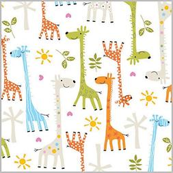 happy giraffe baby shower rolled gift wrap
