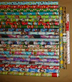 HARD TO FIND WRAPPING PAPER GIFT WRAP ROLLS NEW