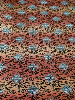 Harely Davidson 32 Sq Ft Gift Wrap Roll Flames