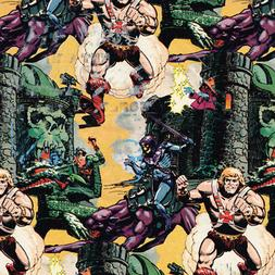 HE-MAN VINTAGE 1984 GIFT WRAP  ~ Birthday Party Supplies