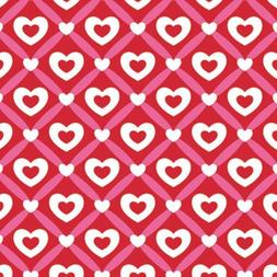 "Heart Lattice Gift Wrapping Roll 24"" X 15' - Valentine's Day"