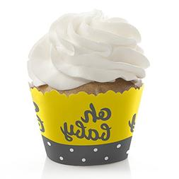 Hello Little One - Yellow and Gray - Baby Shower Decorations