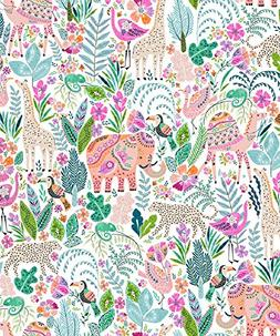 Party Explosions Henna Jungle Animals Glossy Gift Wrap Flat