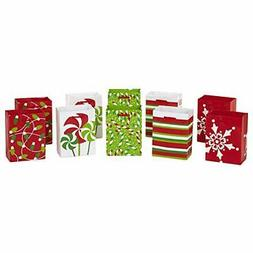 Image Arts Small Holiday Gift Bags, Peppermint