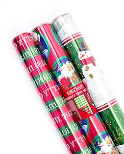 Hallmark Holiday Reversible Wrapping Paper Christmas