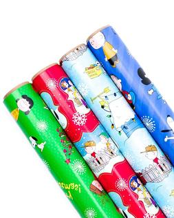 Hallmark Holiday Wrapping Paper Bundle Cut Lines on Reverse