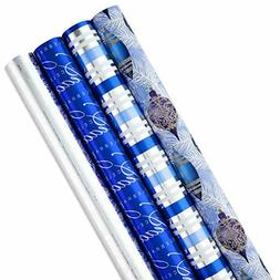 Hallmark Holiday Wrapping Paper Bundle with Cut Lines on Rev