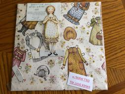 Holly Hobbie Vintage Gift Wrap w/ Tag Stand-Up Paper Doll 1