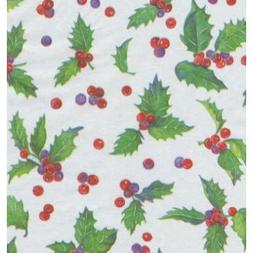 Holly Toss Christmas Gift Tissue Paper - 30 Sheets